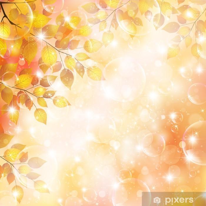 Vinylová fototapeta Maple podzimní listí pozadí - Vinylová fototapeta