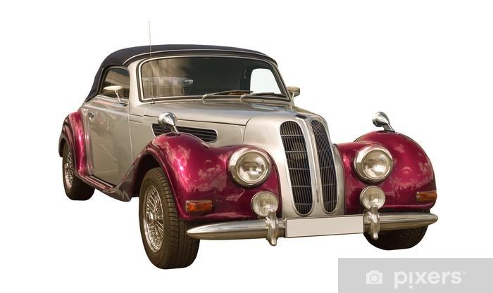 pink Oldtimer, Classic Car, Cabriolet Table & Desk Veneer - Themes