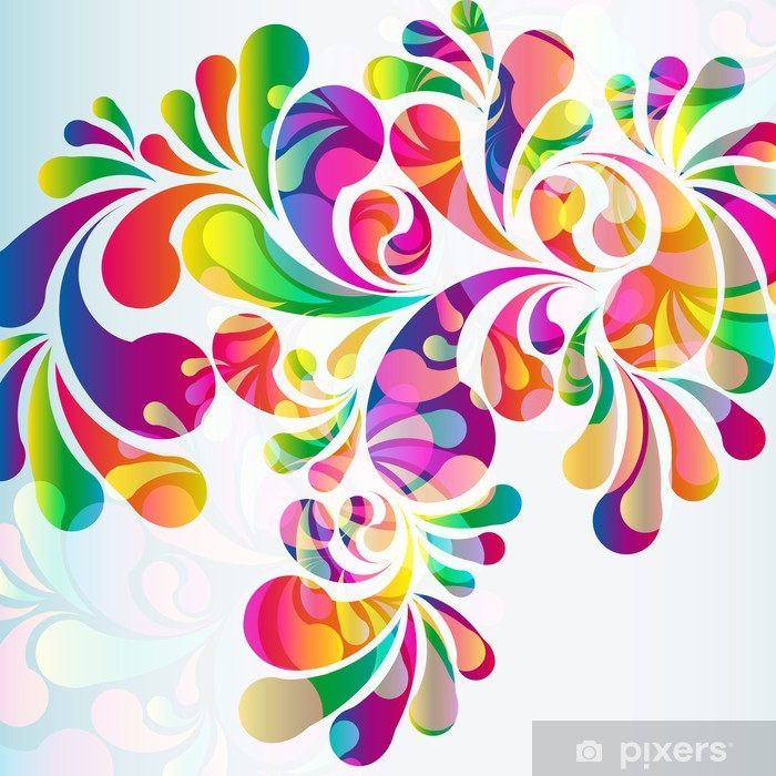 Abstract colorful arc-drop background. Pixerstick Sticker - Backgrounds