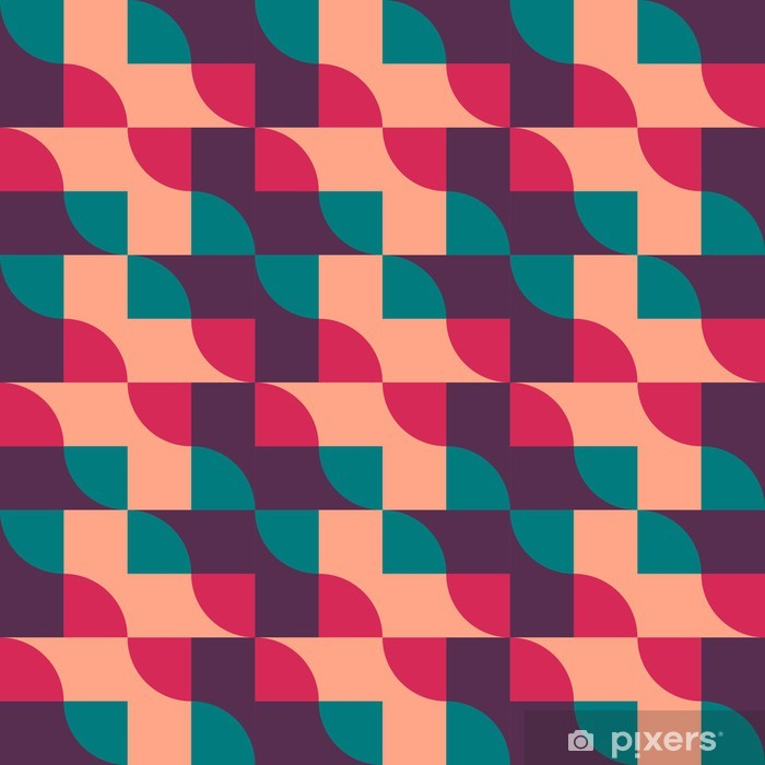 Retro vintage seamless pattern. Vector illustration Vinyl Wall Mural - Life