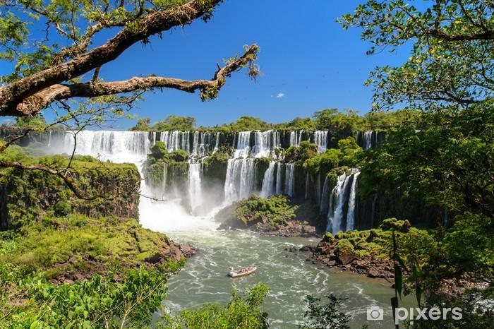 Fotomural Estándar Cataratas del Iguazú vista desde Argentina - Brasil