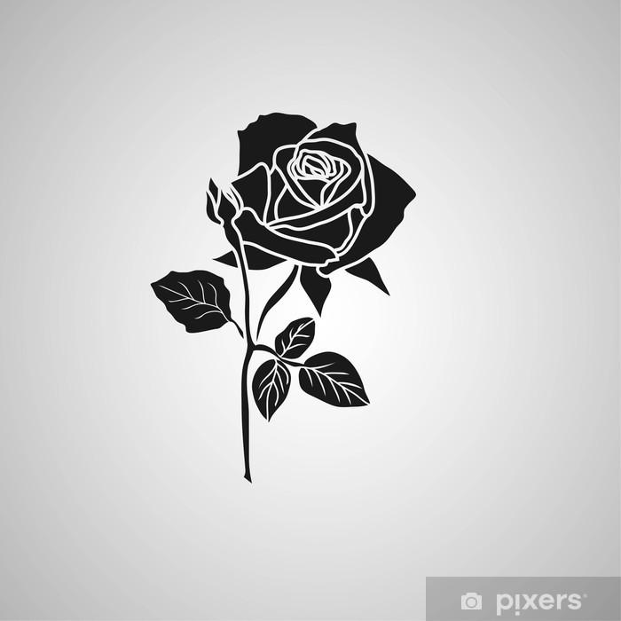 Plakat Róża symbole dekoracyjne ilustracji - Tła