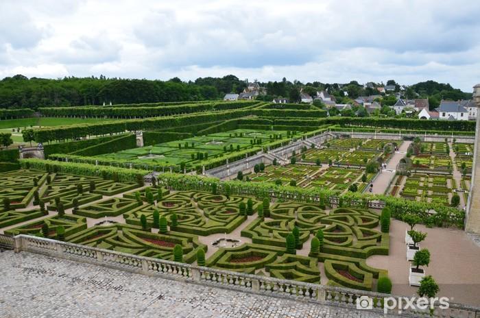 Naklejka Pixerstick Ogród i Zamek w Villandry w dolinie Loary we Francji - Europa