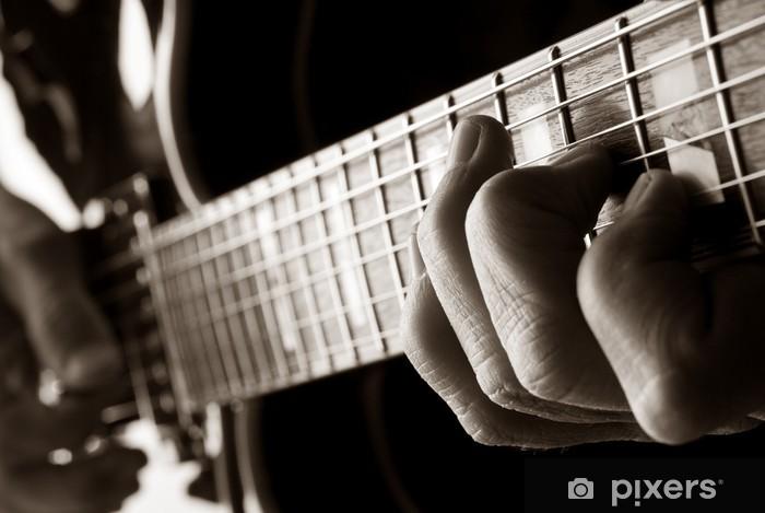 Fototapeta winylowa Gra na gitarze jazzowej - Jazz