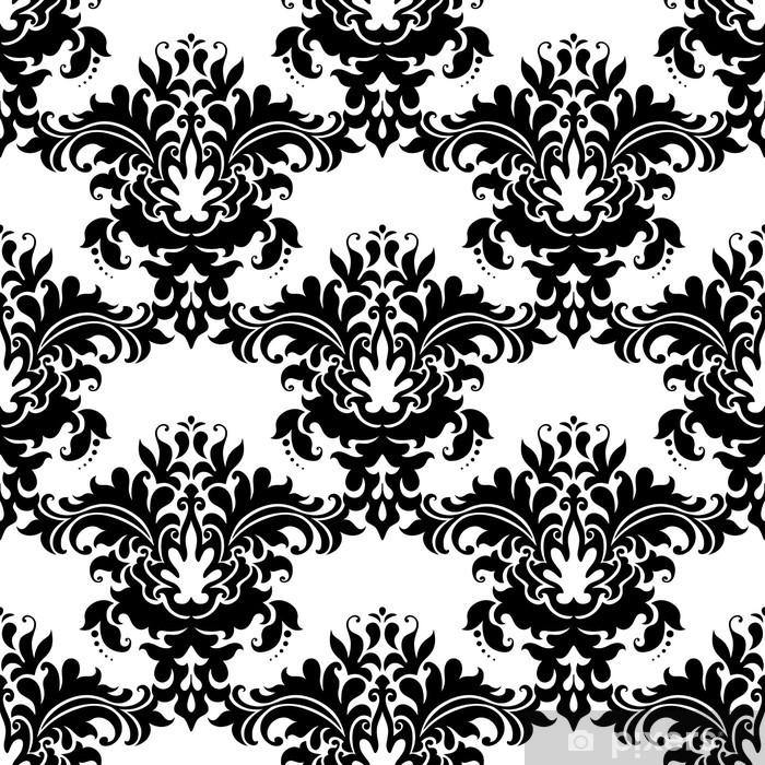 Naklejka Pixerstick Ciężki ozdobny wzór bez szwu arabeski - Tła