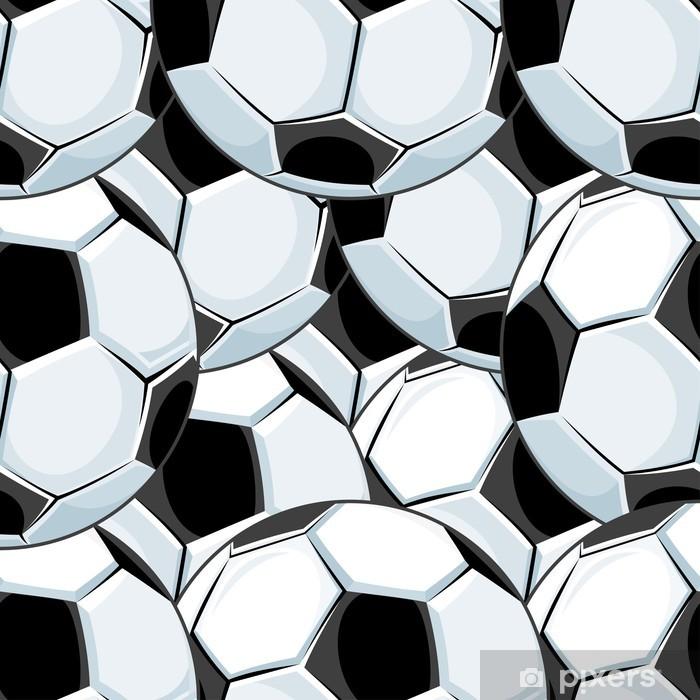 Fototapeta winylowa Wzór tła z nakładających się kulki piłki nożnej -