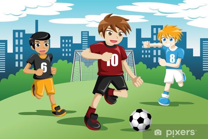 Fototapete Kinder Spielen Fussball