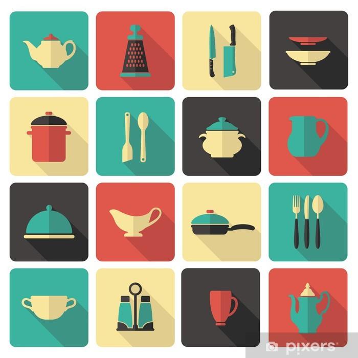 Naklejka Pixerstick Cooking icons -