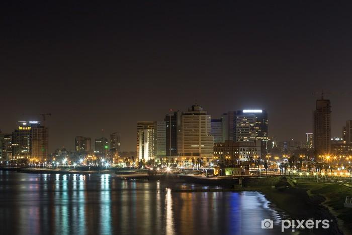 Vinilo Pixerstick Tel Aviv en la noche - Oriente Medio