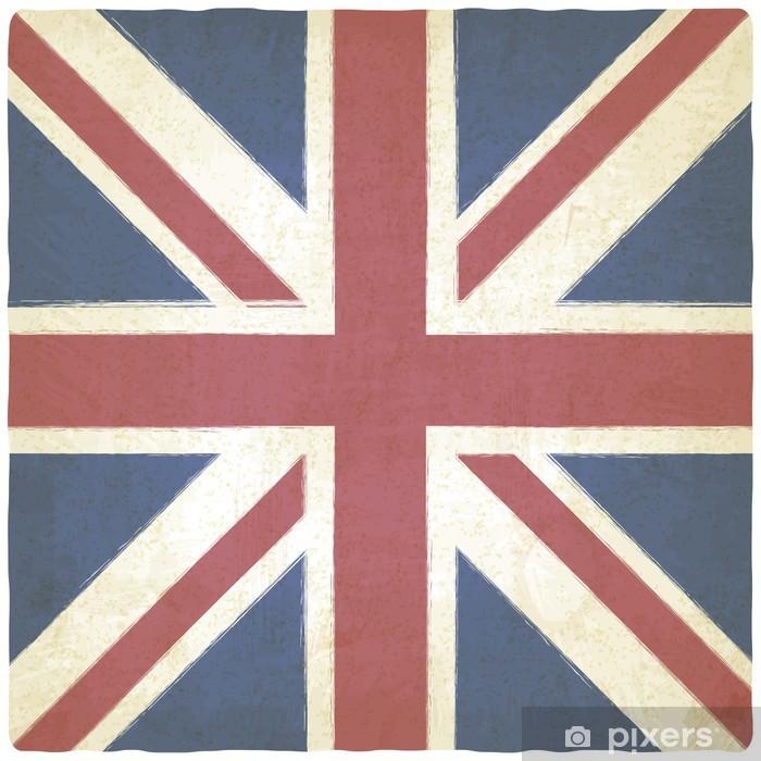 Fototapeta winylowa Union Jack stare tło - Tła