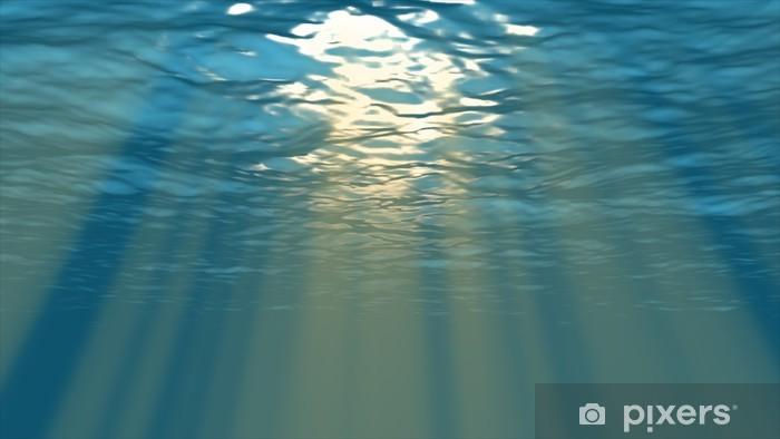 Vinyl-Fototapete 海面 か ら の 光 - Unterwasser
