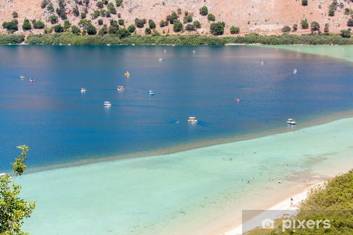 Naklejka Pixerstick Plaża w miejscowości Kavros w wyspie Kreta, Grecja. - Woda