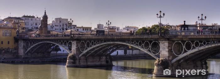 Vinyl Fotobehang Puente de Triana, Sevilla - Thema's