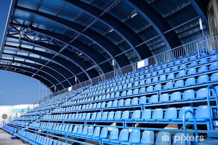 Fototapeta winylowa Siedzenie na pusty stadion niebieski - Budynki użyteczności publicznej