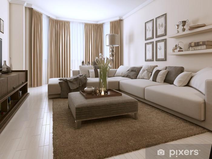 Fototapete Wohnzimmer im zeitgenössischen Stil