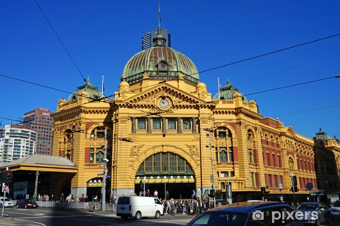 Flinders Street Station (Melbourne, Australia) Pixerstick Sticker - Oceania