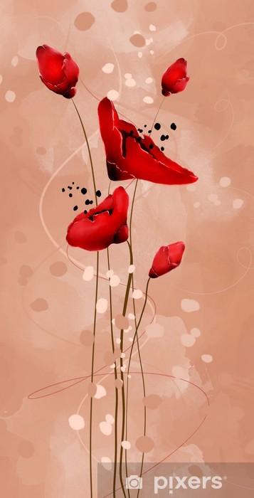 Adesivo Papaveri rossi • Pixers® - Viviamo per il cambiamento 835c23d0cd91