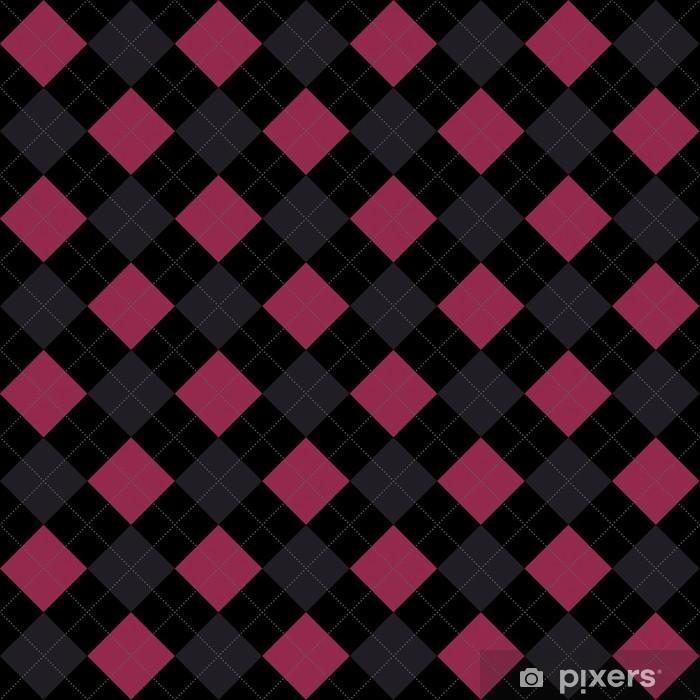 Adesivo Nero Rosa E Grigio Argyle Giunte Di Ripetizione Di Sfondo Pixerstick