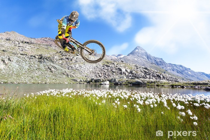Nálepka Pixerstick Motorkář v akci in Valmalenco (IT) - Cyklistika