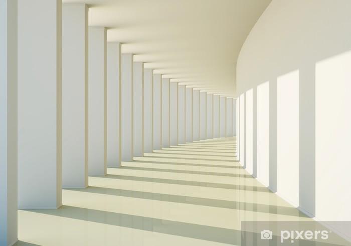 Pixerstick-klistremerke 3D abstrakt korridor - Grafiske Ressurser