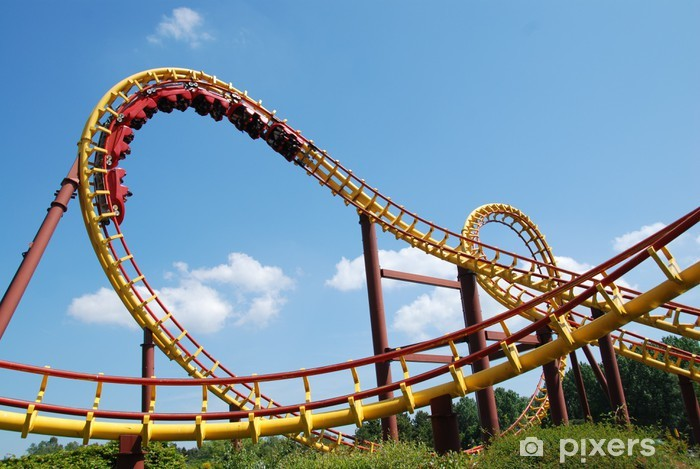 A Roller Coaster Ride In France Wall Mural Pixers 174 We