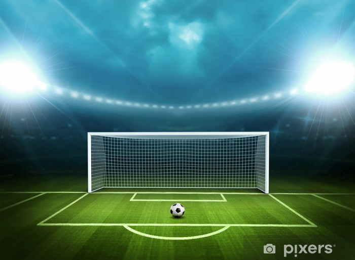 Stadium with soccer ball Pixerstick Sticker -
