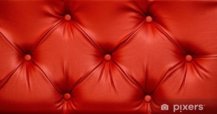 Pixerstick Sticker Naadloze Rode Leertextuur - Texturen