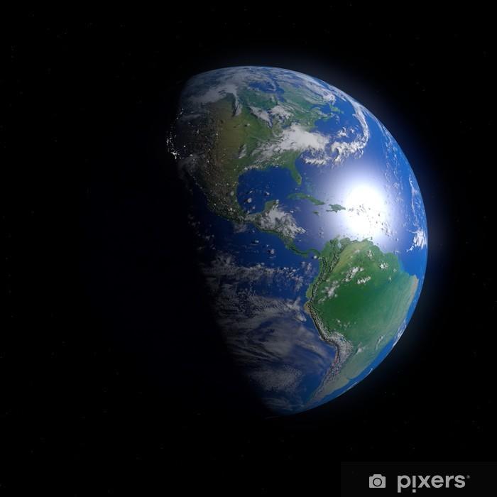 Plakat Ziemi ameryka czarny - Ekologia