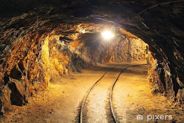 Underground mine tunnel, mining industry Pixerstick Sticker - Themes