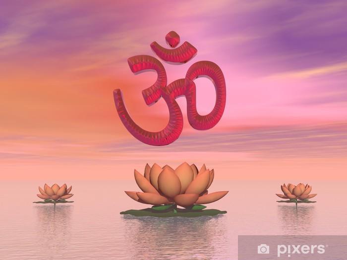 Papier peint vinyle Aum Zen - Rendu 3D - Signes et symboles