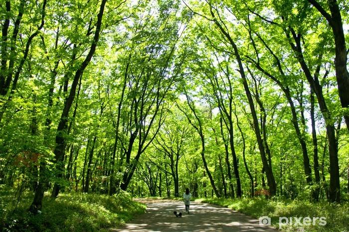 Naklejka Pixerstick Stan ei Musashi wzgórza Forest Park - Rozrywka