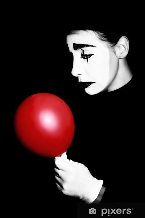 Sticker Pixerstick Sad mime interprète Pantomime - Divertissements