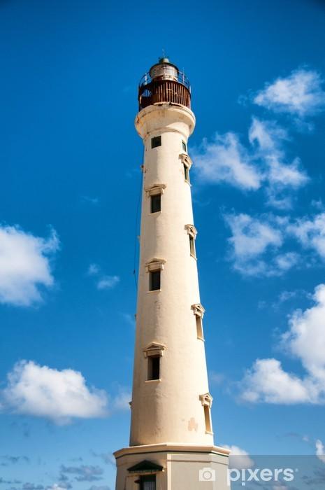 Pixerstick Sticker California Lighthouse Landmark op Aruba Caribbean - Amerika