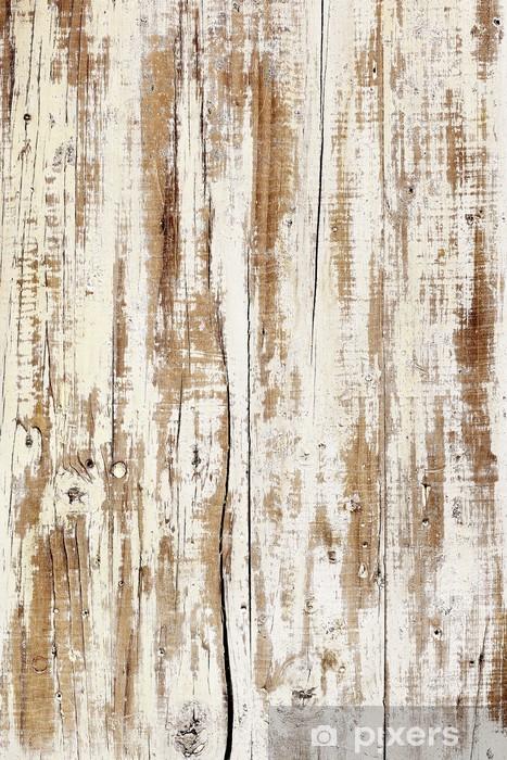 aged white wood Pixerstick Sticker - Themes