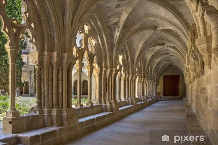 Nálepka Pixerstick Poblet Klášter - Katalánsko - Španělsko - Evropa