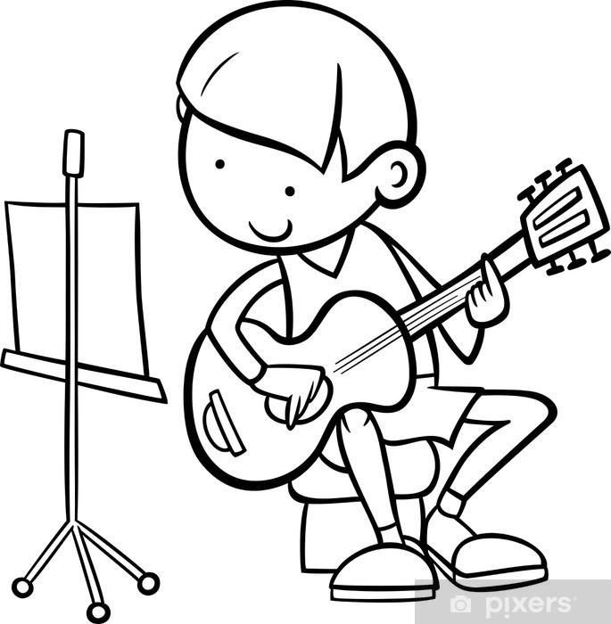Gitar Boyama Ile çocuk Duvar Resmi Pixers Haydi Dünyanızı
