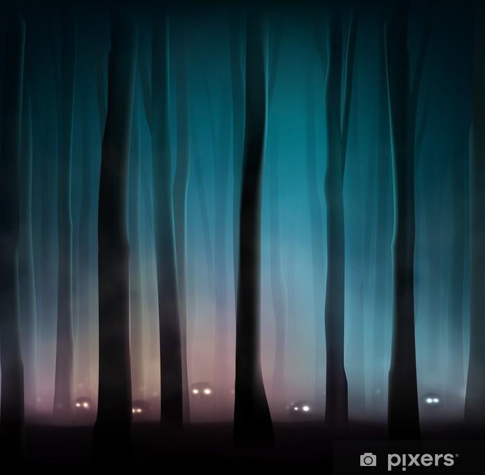 Papier peint vinyle Monstres dans la forêt - Thèmes
