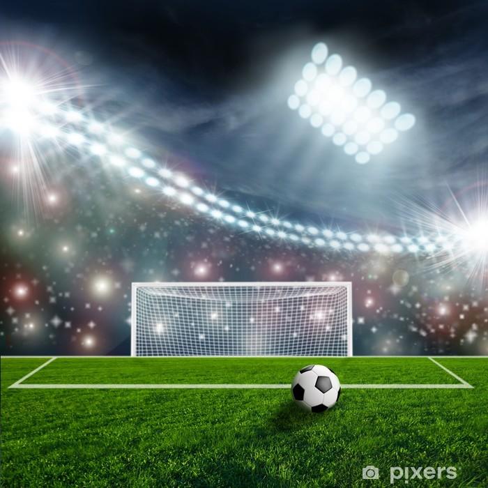 Plakat Piłka nożna na zielonej Stadion Arena - Sukces i osiągnięcia