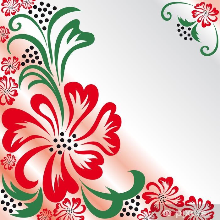 Flower greeting card Pixerstick Sticker - Backgrounds