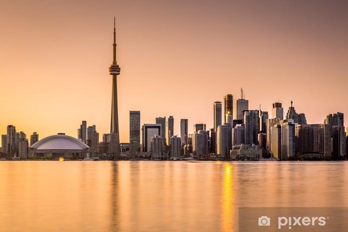 Toronto skyline at sunset Pixerstick Sticker - America