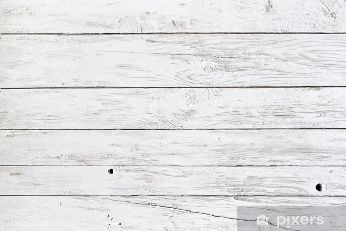 Fototapeta winylowa Białe deski - Style