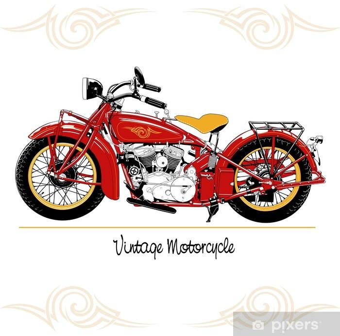 Nálepka Pixerstick Vintage motocyklu - Na cestě