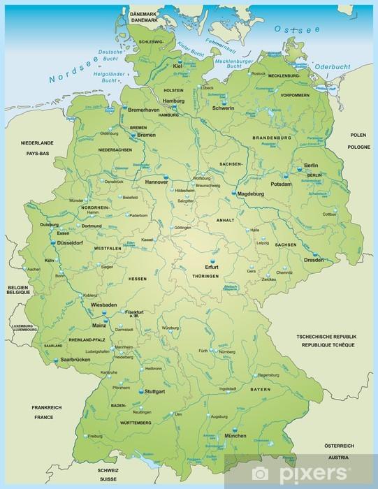 Fototapet Karta Over Tyskland Pixers Vi Lever For Forandring