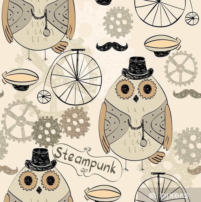 Poster Hibou steampunk - Steampunk