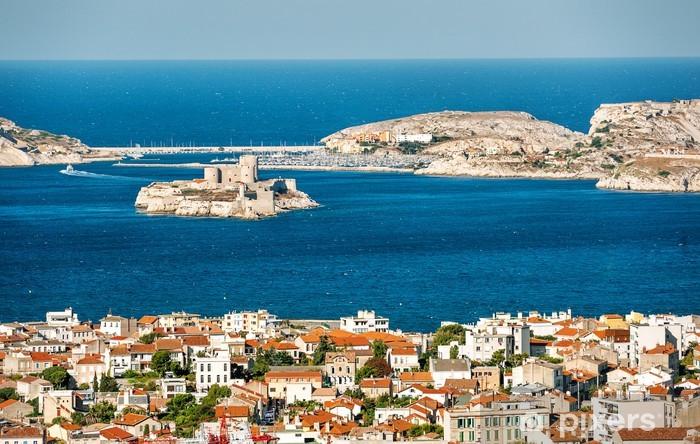 Pixerstick Sticker Mening van Marseille, Frankrijk - Thema's
