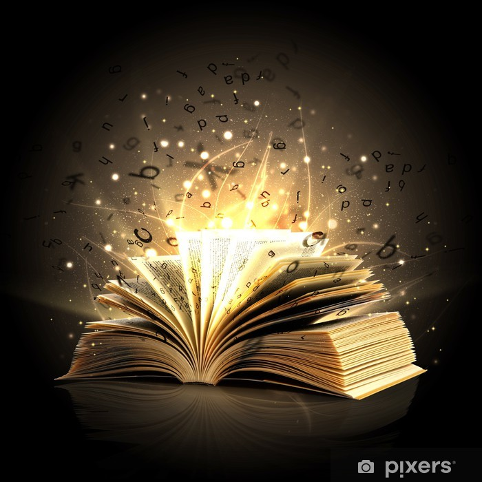 Magic book with magic lights Poster • Pixers® • We live to change