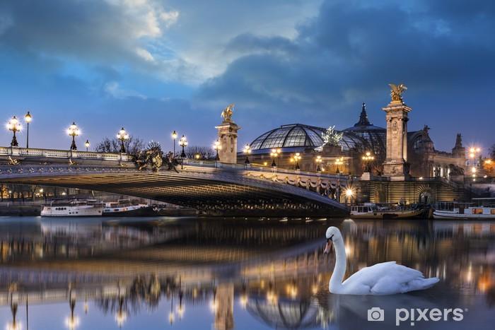 Vinyl-Fototapete Pont Alexandre III et Grand Palais - Europäische Städte