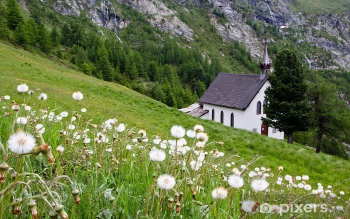 Naklejka Pixerstick Kościół w Alpach - Tematy
