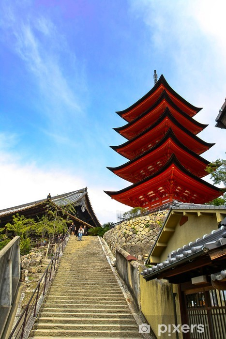 Papier peint vinyle 宮 島 の 五 重 塔 と 豊 国 神社 - Asie