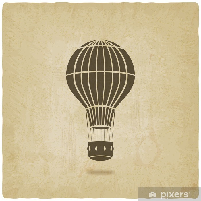 hot air balloon old background Poster - Air